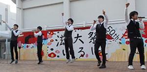 学園祭ライブのステージ